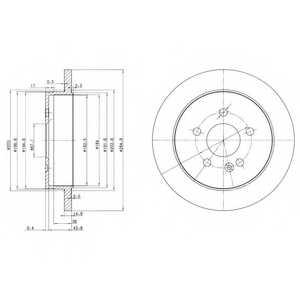 Тормозной диск DELPHI BG3398 - изображение