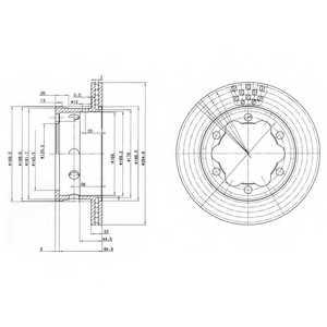 Тормозной диск DELPHI BG3399 - изображение
