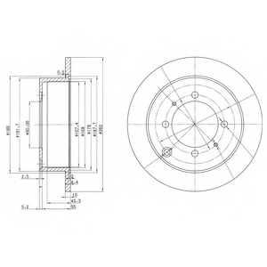 Тормозной диск DELPHI BG3400 - изображение