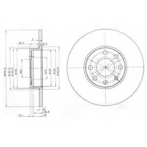 Тормозной диск DELPHI BG3402 - изображение