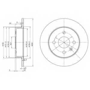 Тормозной диск DELPHI BG3403 - изображение