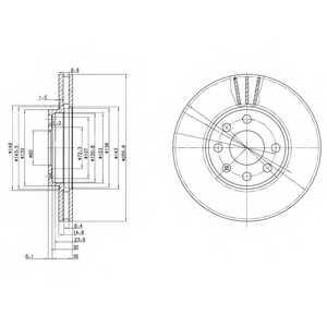 Тормозной диск DELPHI BG3404 - изображение