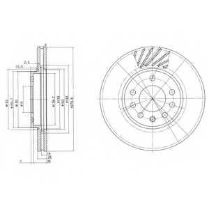 Тормозной диск DELPHI BG3405 - изображение