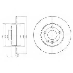 Тормозной диск DELPHI BG3406 - изображение