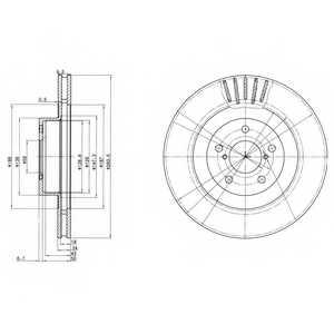 Тормозной диск DELPHI BG3413 - изображение