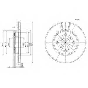 Тормозной диск DELPHI BG3414 - изображение