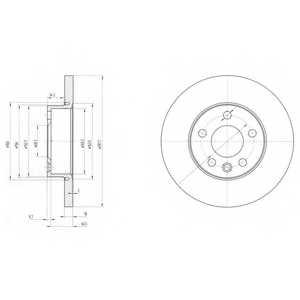 Тормозной диск DELPHI BG3415 - изображение