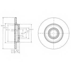 Тормозной диск DELPHI BG3416 - изображение