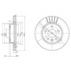 Тормозной диск DELPHI BG3417 - изображение