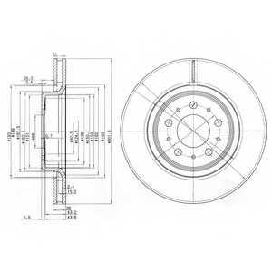 Тормозной диск DELPHI BG3418 - изображение