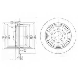 Тормозной диск DELPHI BG3419 - изображение