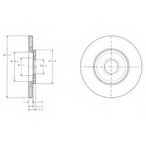 Тормозной диск DELPHI BG3421 - изображение