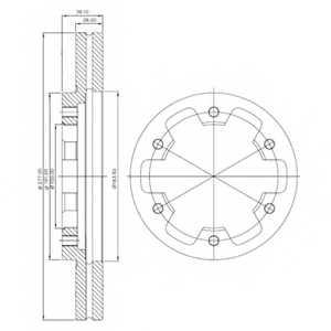Тормозной диск DELPHI BG3422 - изображение