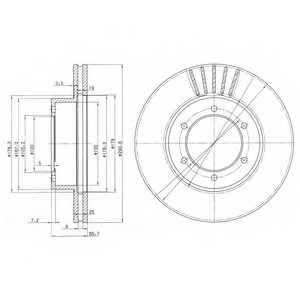 Тормозной диск DELPHI BG3423 - изображение