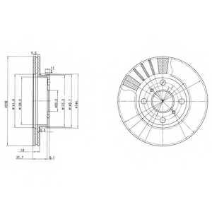 Тормозной диск DELPHI BG3424 - изображение
