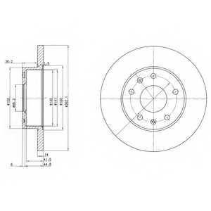 Тормозной диск DELPHI BG3426 - изображение