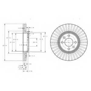 Тормозной диск DELPHI BG3430 - изображение