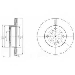 Тормозной диск DELPHI BG3499 - изображение