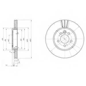 Тормозной диск DELPHI BG3503 - изображение