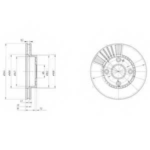 Тормозной диск DELPHI BG3508 - изображение