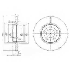 Тормозной диск DELPHI BG3513 - изображение
