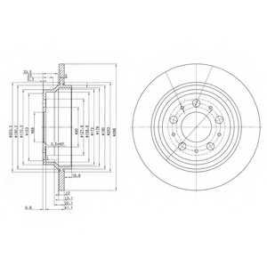 Тормозной диск DELPHI BG3515 - изображение