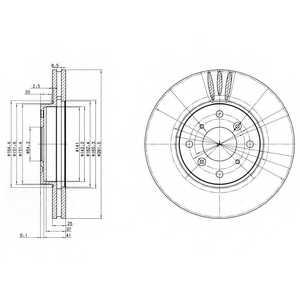 Тормозной диск DELPHI BG3516 - изображение