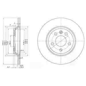 Тормозной диск DELPHI BG3518 - изображение