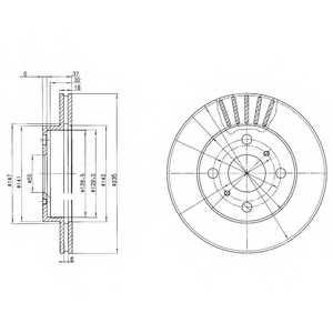 Тормозной диск DELPHI BG3519 - изображение