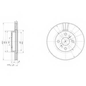 Тормозной диск DELPHI BG3520 - изображение
