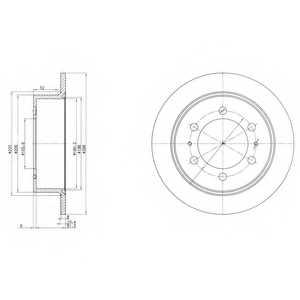 Тормозной диск DELPHI BG3522 - изображение