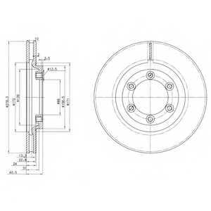 Тормозной диск DELPHI BG3523 - изображение