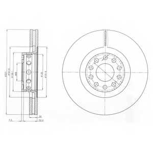 Тормозной диск DELPHI BG3524 - изображение