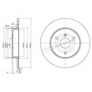 Тормозной диск DELPHI BG3526 - изображение