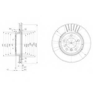 Тормозной диск DELPHI BG3527 - изображение