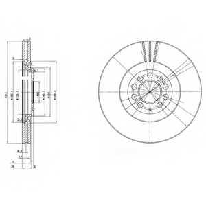 Тормозной диск DELPHI BG3528 - изображение