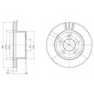 Тормозной диск DELPHI BG3533 - изображение