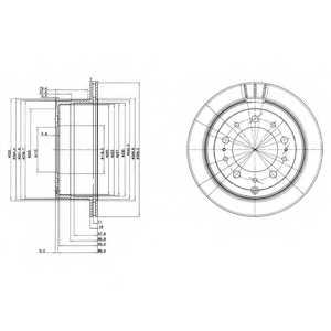 Тормозной диск DELPHI BG3534 - изображение
