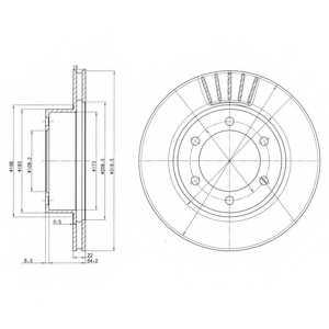 Тормозной диск DELPHI BG3535 - изображение