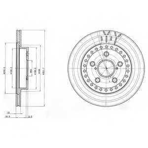 Тормозной диск DELPHI BG3536 - изображение