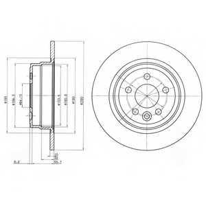 Тормозной диск DELPHI BG3550 - изображение