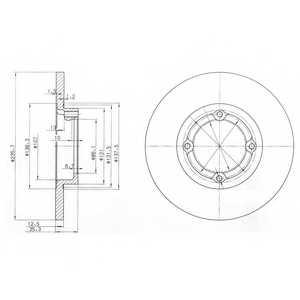 Тормозной диск DELPHI BG3551 - изображение