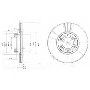 Тормозной диск DELPHI BG3553 - изображение