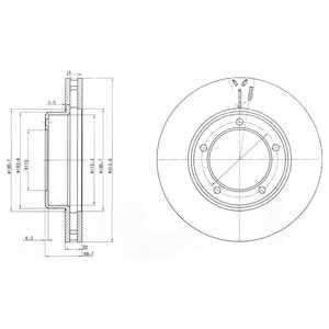Тормозной диск DELPHI BG3558 - изображение