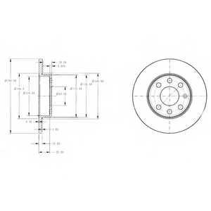 Тормозной диск DELPHI BG3567 - изображение