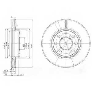 Тормозной диск DELPHI BG3568 - изображение