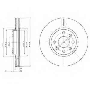 Тормозной диск DELPHI BG3569 - изображение