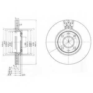 Тормозной диск DELPHI BG3574 - изображение