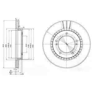 Тормозной диск DELPHI BG3587 - изображение