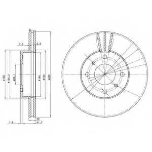 Тормозной диск DELPHI BG3596 - изображение